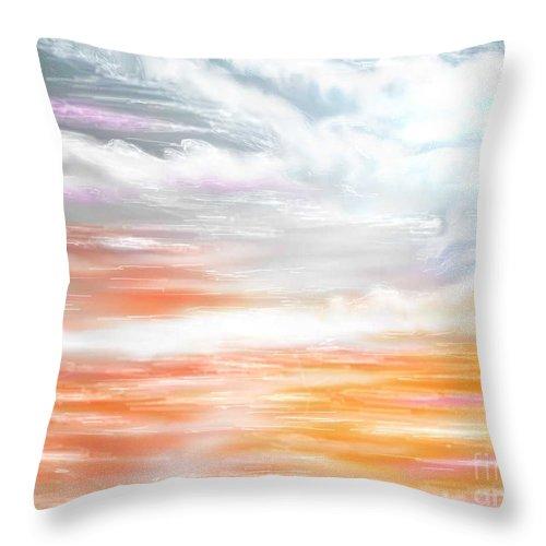 Inspirational Art Throw Pillow featuring the digital art A Light Unto My Path by Brenda L Spencer