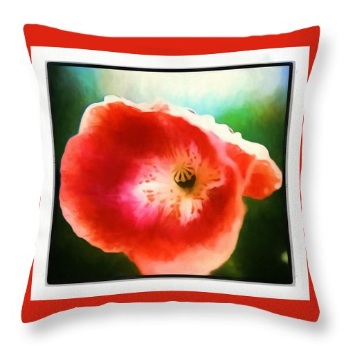 Flower Throw Pillow featuring the photograph A Little Bit Orchid by Debra Lynch