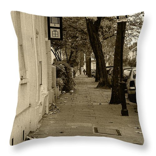 London Throw Pillow featuring the photograph A London Street I by Ayesha Lakes