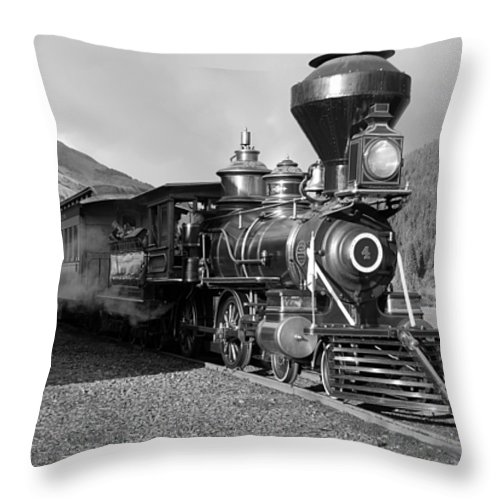 Steam Train Photographs Photographs Photographs Throw Pillow featuring the photograph A Look Of The Past by Ken Smith