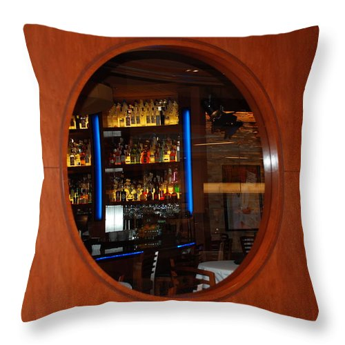 Architecture Throw Pillow featuring the photograph A Look Thru The Fishbowl by Rob Hans