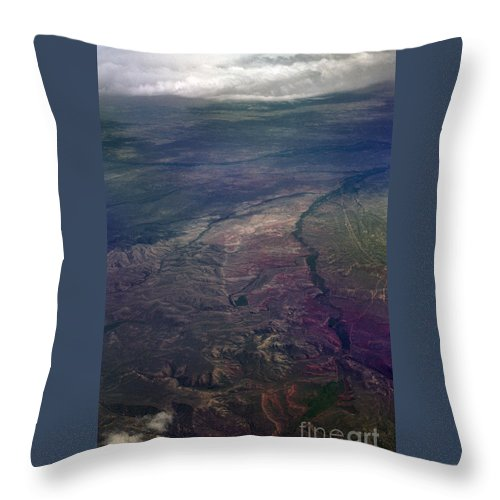 Aerial Photography Throw Pillow featuring the photograph A Midwestern Landscape by Richard Rizzo