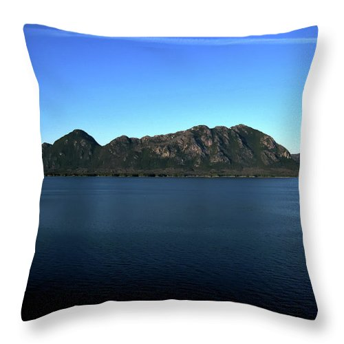 Mountain Throw Pillow featuring the photograph A Mighty Mountain by Lori Tambakis