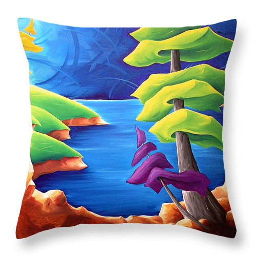 Landscape Throw Pillow featuring the painting A Moment In Time by Richard Hoedl