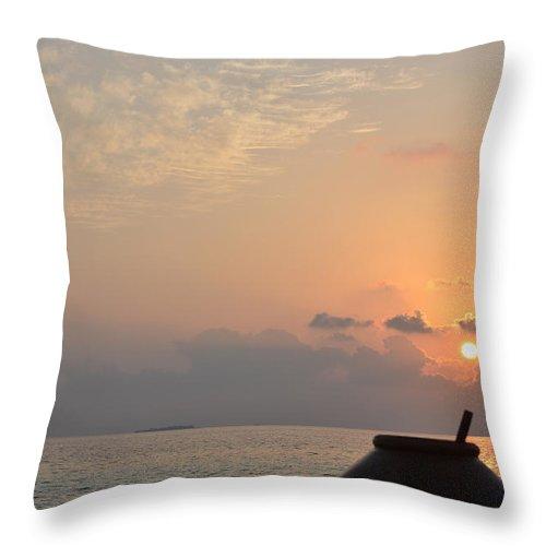 Sunrise Throw Pillow featuring the photograph A New Beginning by Corinne Rhode