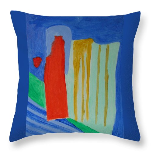 Spiritual Throw Pillow featuring the painting A New Beginning by Harris Gulko