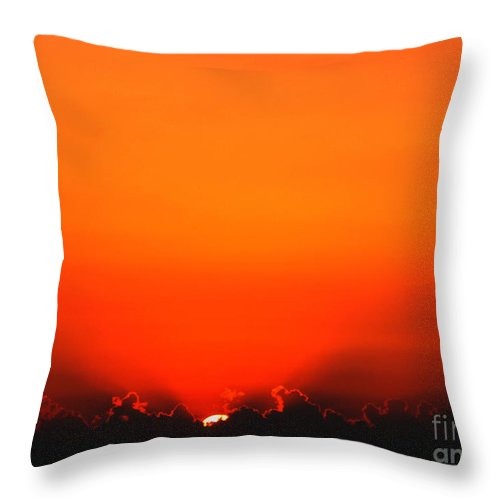 Sun Throw Pillow featuring the photograph A New Day by Amanda Barcon