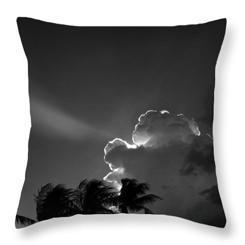 Clouds Throw Pillow featuring the photograph A New Day For Hope by Michelle Constantine
