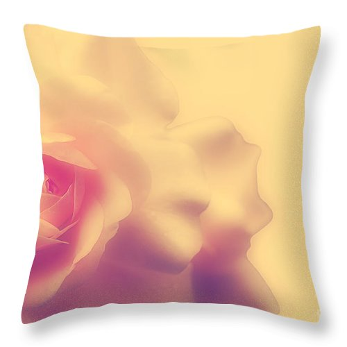 Rose Throw Pillow featuring the photograph A New Day by Lois Bryan