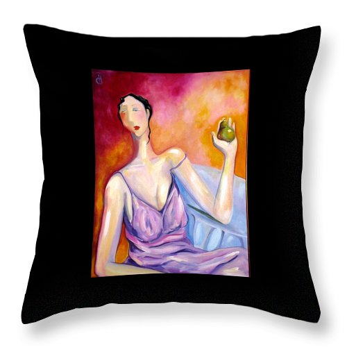 Figure Throw Pillow featuring the painting A New Pair by Heather Roddy