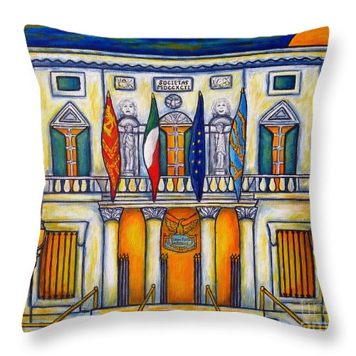 Theatre Throw Pillow featuring the painting A Night at the Fenice by Lisa Lorenz