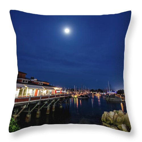 Landscape Throw Pillow featuring the photograph A Night In Monterey by Margaret Pitcher