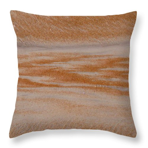 Sand Throw Pillow featuring the photograph A Path Out To Sea by Mandy Shupp