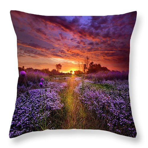 Spring Throw Pillow featuring the photograph A Peaceful Proposition by Phil Koch