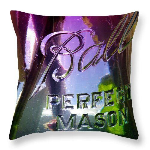 Flowers Throw Pillow featuring the photograph A Perfect Mason... by Arthur Miller