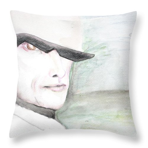 Perry Farrell Jane's Addiction Darkestartist Darkest Artist Throw Pillow featuring the painting A Perry Farrell Plan by Darkest Artist