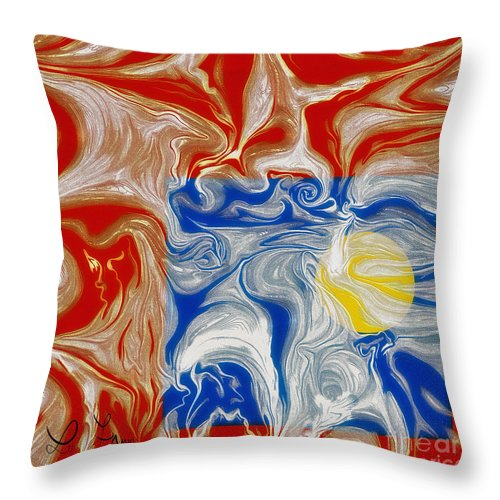 Piece Of Heaven Throw Pillow featuring the digital art A Piece Of Heaven For Everyone by Leo Symon
