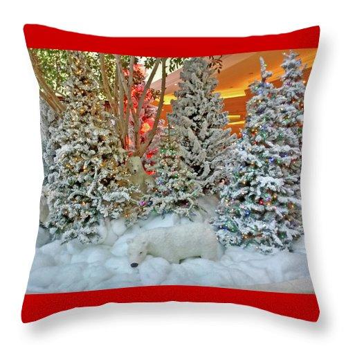 Photography Throw Pillow featuring the photograph A Polar Bear Christmas by Marian Bell