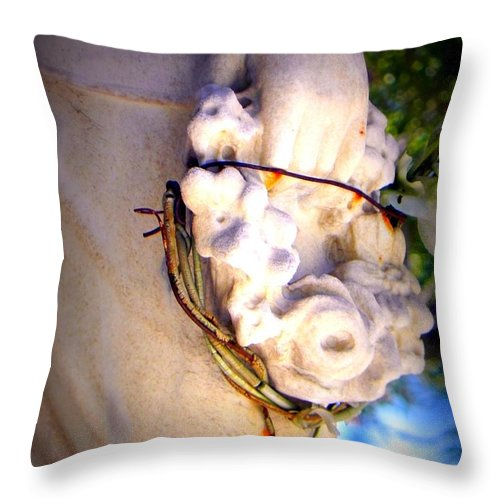 Cemetery Throw Pillow featuring the photograph A Promise Of Faith by Leah Moore