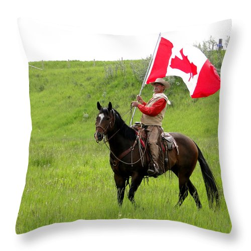 Al Bourassa Throw Pillow featuring the photograph A Proud Cowboy by Al Bourassa