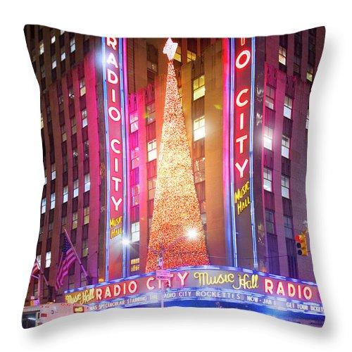 A Radio City Music Hall Christmas Throw Pillow