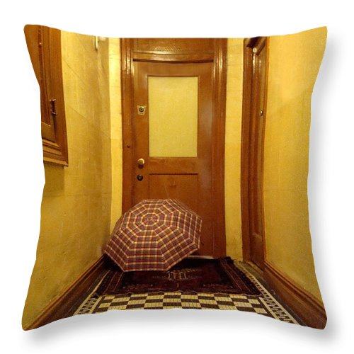 Wood Throw Pillow featuring the photograph A Rainy Day In Astoria by Joseph Mari