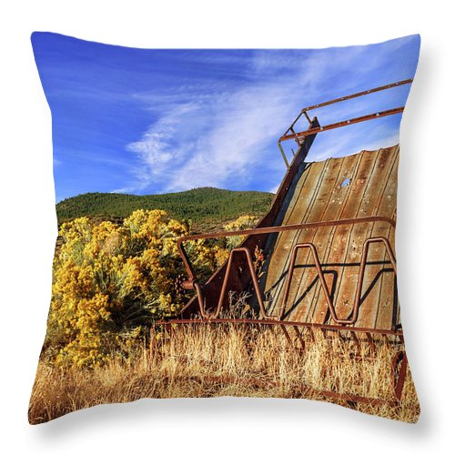 Old Throw Pillow featuring the photograph A Reminder Of The Past by James Eddy