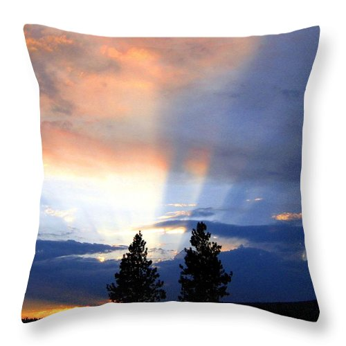 Sky Throw Pillow featuring the photograph A Riveting Sky by Will Borden