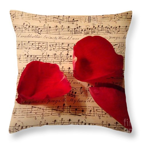 Kathy Bucari Throw Pillow featuring the photograph A Romantic Note by Kathy Bucari