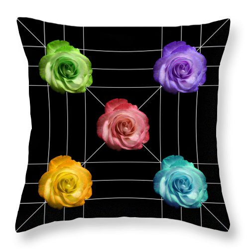 A Rose Is A Rose Throw Pillow featuring the photograph A Rose Is A Rose Is A Rose by Peter Piatt