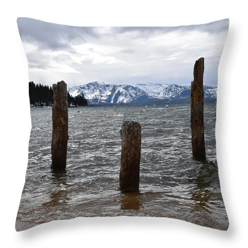 Lake Tahoe Throw Pillow featuring the photograph A Set Of 3 by Christina McNee-Geiger