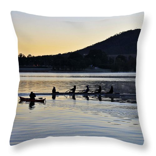 Sunrise Throw Pillow featuring the photograph A Shot Across The Bow by Anthony Croke