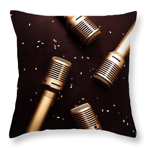 Sing Throw Pillow featuring the photograph A Showtime Scene by Jorgo Photography - Wall Art Gallery