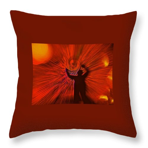 Goddess Throw Pillow featuring the photograph A Spiral Of Passion by Mele Jean Willow