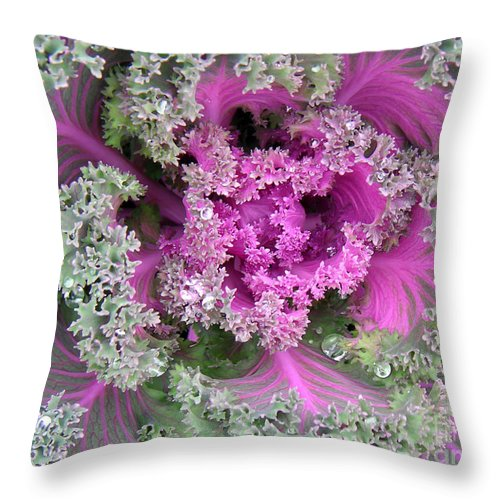 Nature Throw Pillow featuring the photograph A Study In The Shades Of Spring Two by Lucyna A M Green