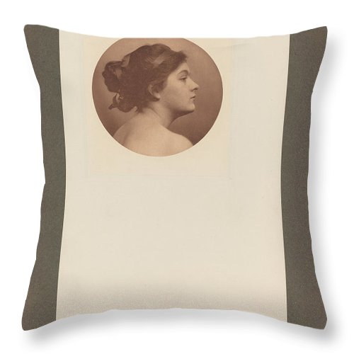 Throw Pillow featuring the photograph A Study by James Wells Champney