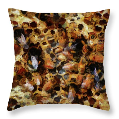 Insect Throw Pillow featuring the photograph A Sugar Rush by Steve Taylor