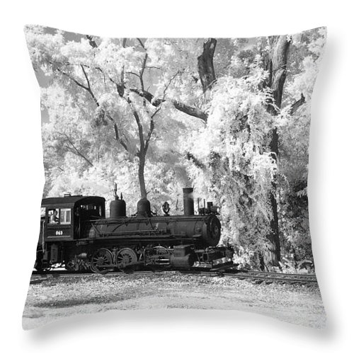 Historical Throw Pillow featuring the photograph A Surreal Train Ride by Paul W Faust - Impressions of Light