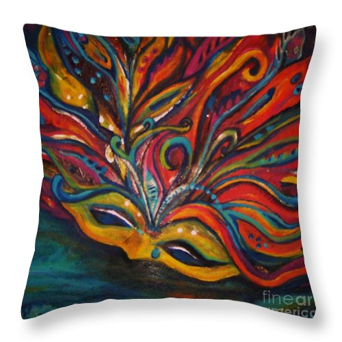 New Orleans Throw Pillow featuring the painting A Tear For New Orleans by Sidra Myers