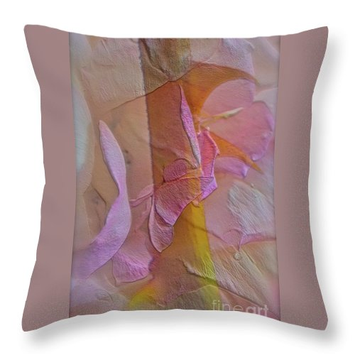 Thorn Throw Pillow featuring the photograph A Thorn's Beauty by Gwyn Newcombe