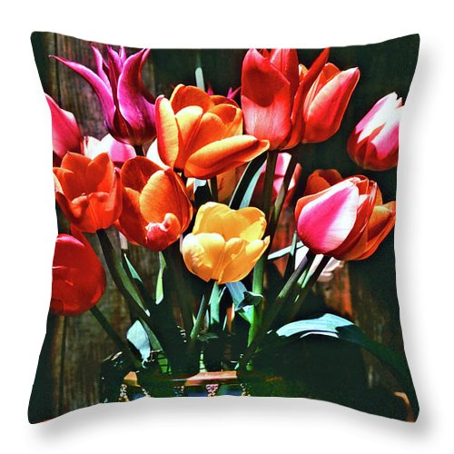 Tulip Throw Pillow featuring the photograph A Time For Tulips by Michael Durst