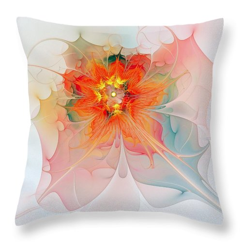 Digital Art Throw Pillow featuring the digital art A Touch Of Spring by Amanda Moore