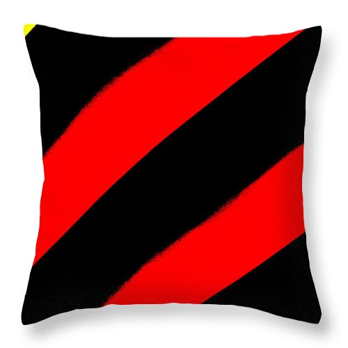 Red Throw Pillow featuring the photograph A Touch Of Yellow by Artie Rawls