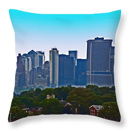 New York Throw Pillow featuring the photograph A Tree Grows In Brooklyn by Debbi Granruth