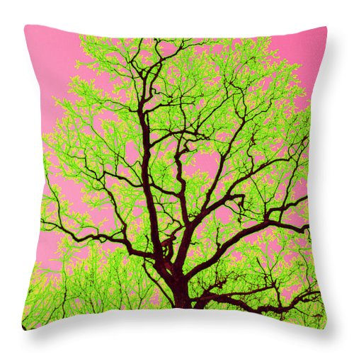 Lime Green Throw Pillow featuring the photograph A Tree Grows In Vegas by Valerie Fuqua