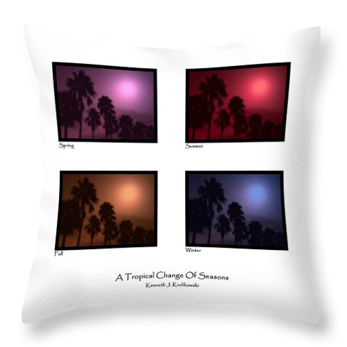 Palm Throw Pillow featuring the photograph A Tropical Change Of Seasons by Kenneth Krolikowski