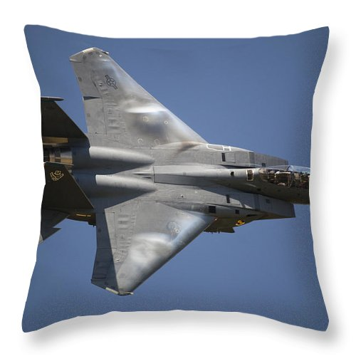Day Throw Pillow featuring the photograph A Unique Perspective Shows The Top by Pete Ryan
