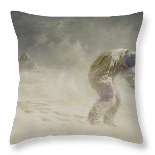 Very Throw Pillow featuring the painting A Very Gallant Gentleman by John Charles Dollman