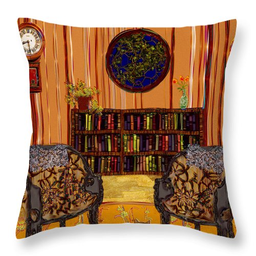 Folk Art Throw Pillow featuring the painting A Victorian Horror by RC DeWinter