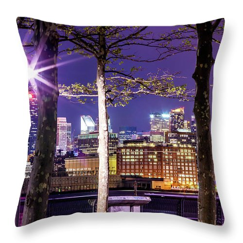 Empire State Building Throw Pillow featuring the photograph A View To Behold by Az Jackson